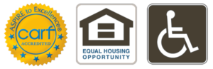 CARF Accredited; Equal Housing Opportunity; Wheelchair Access